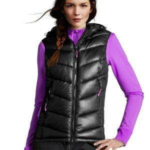 h&m | h&m sport puffer vest detachable hood zip up